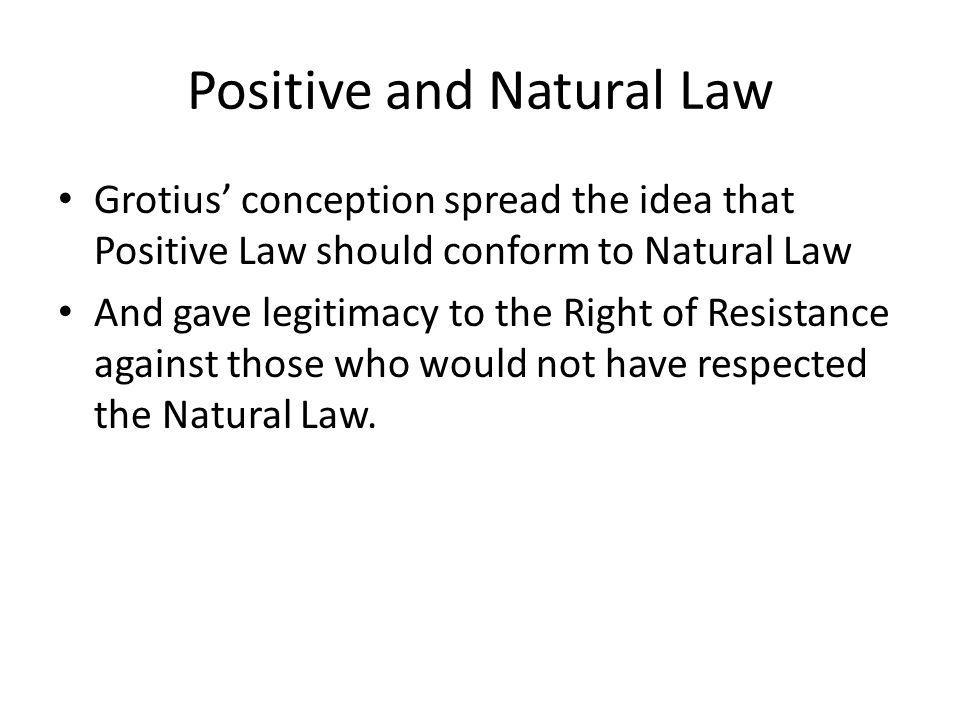 Positive and Natural Law