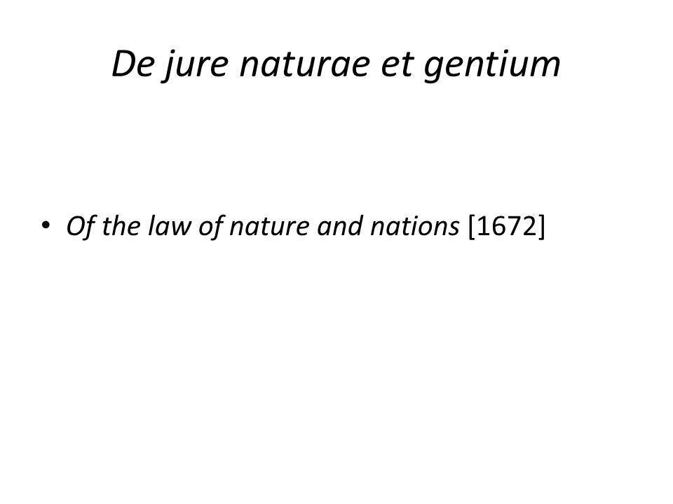 De jure naturae et gentium