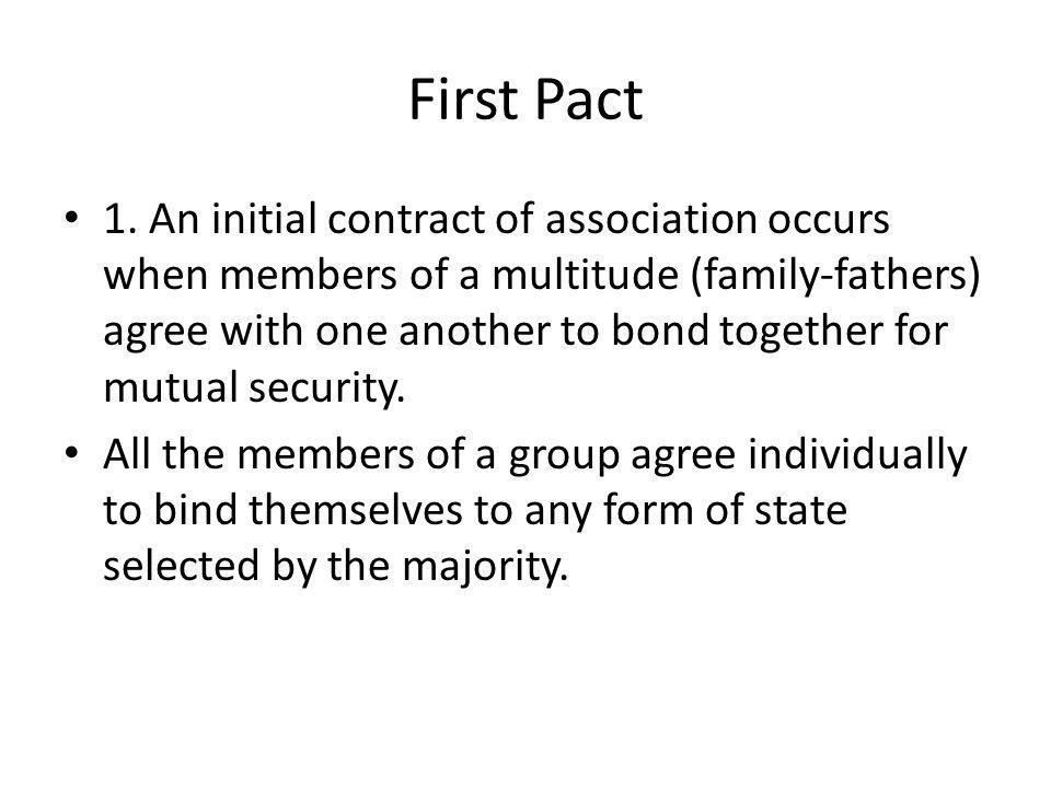 First Pact