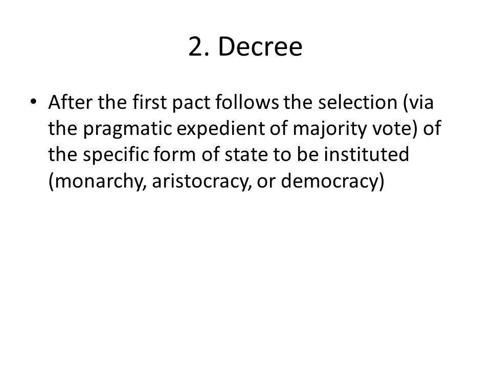 2. Decree