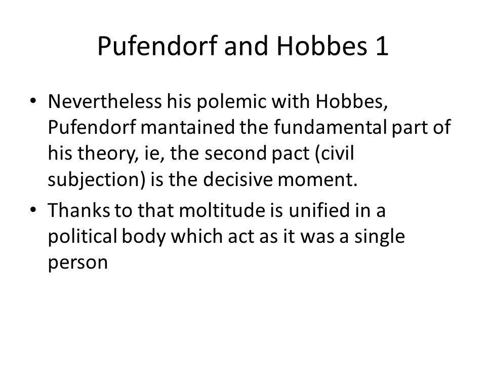 Pufendorf and Hobbes 1