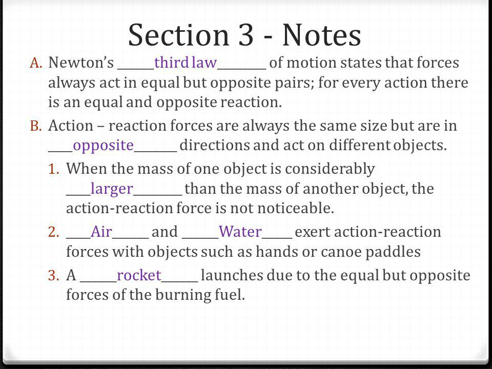 Section 3 - Notes
