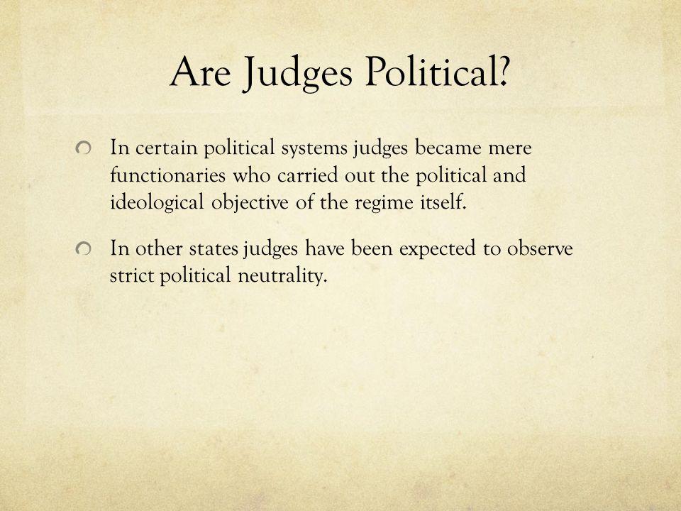 Are Judges Political