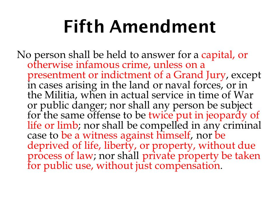 Fifth Amendment
