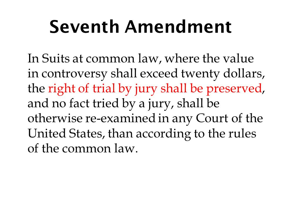 Seventh Amendment