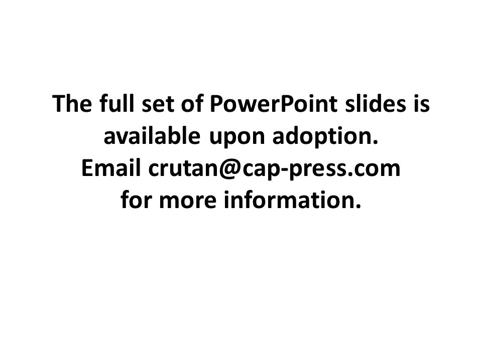 The full set of PowerPoint slides is available upon adoption
