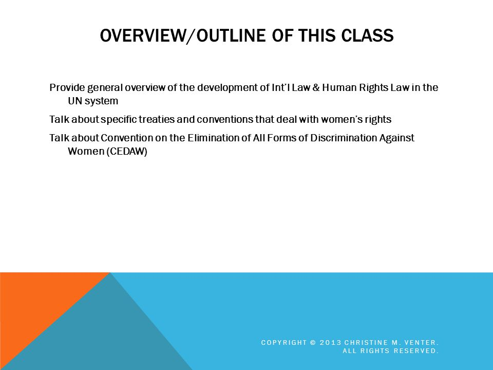 Overview/Outline of this Class