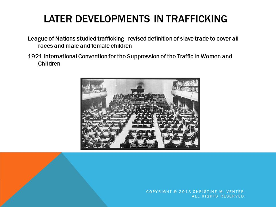 Later developments in trafficking