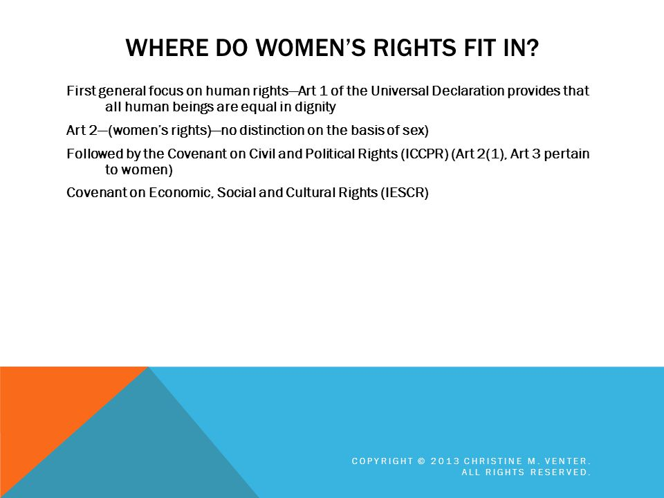 Where do Women's Rights fit in