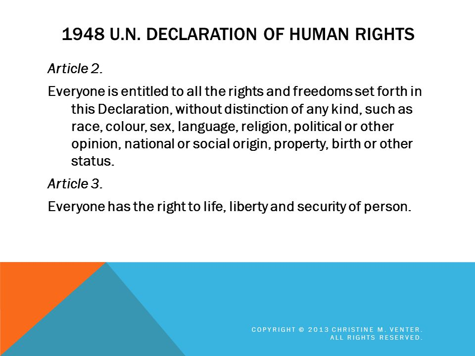 1948 U.N. Declaration of Human Rights