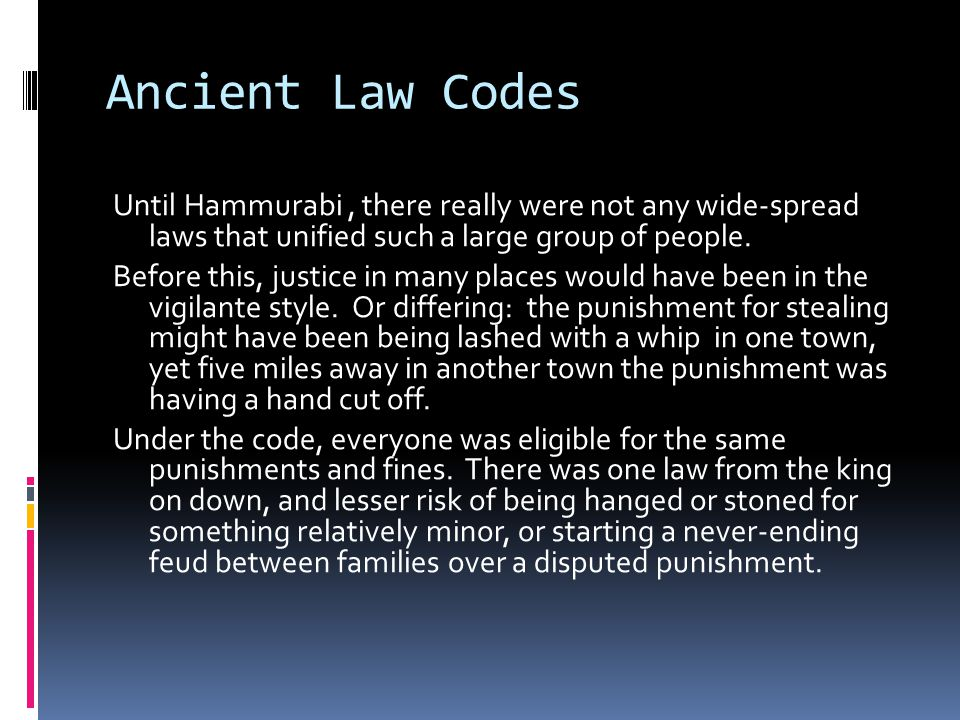 Ancient Law Codes