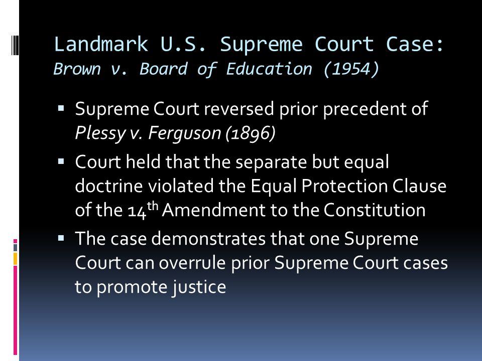 Landmark U.S. Supreme Court Case: Brown v. Board of Education (1954)