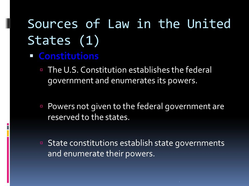 Sources of Law in the United States (1)