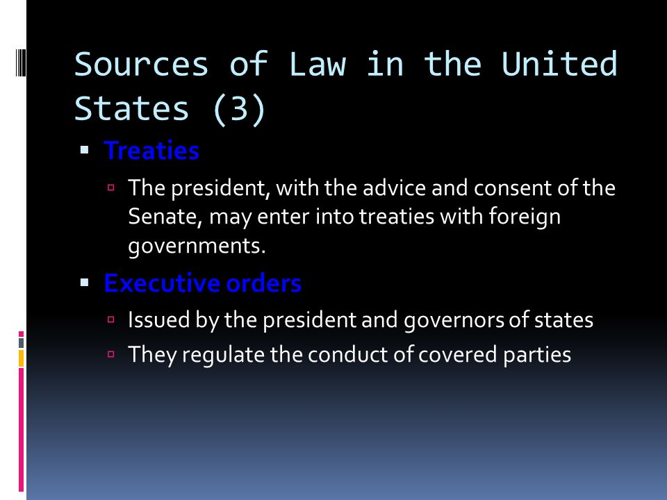 Sources of Law in the United States (3)
