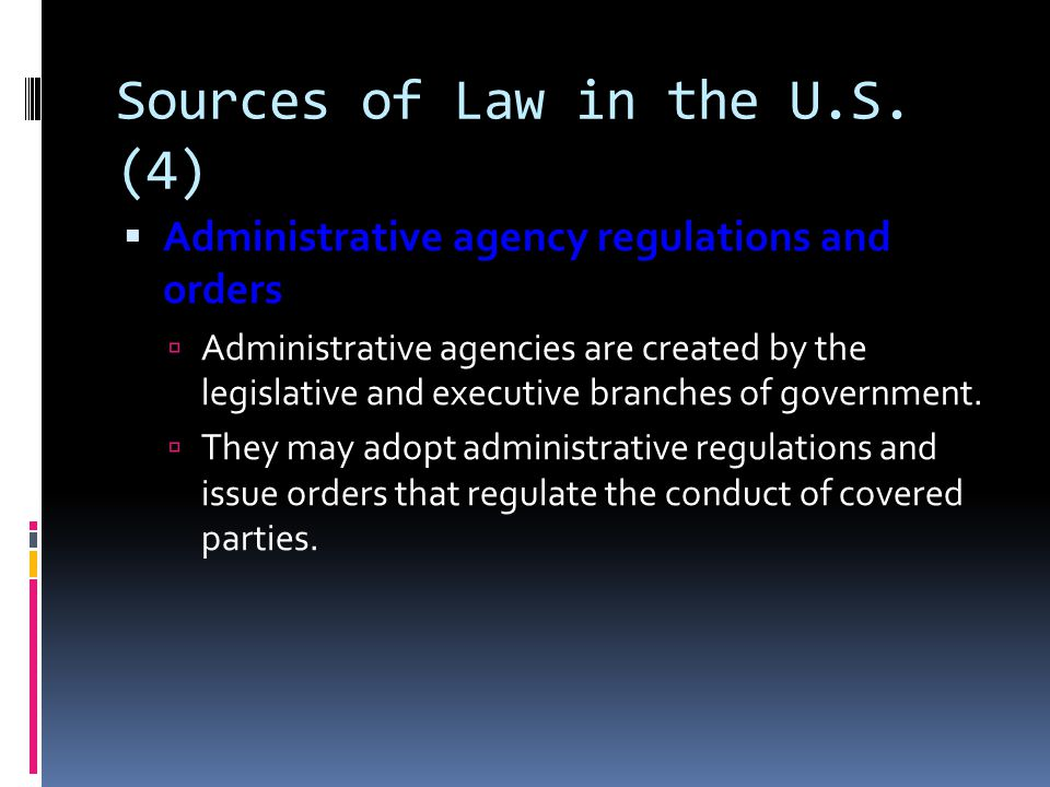 Sources of Law in the U.S. (4)