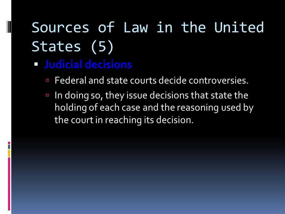 Sources of Law in the United States (5)