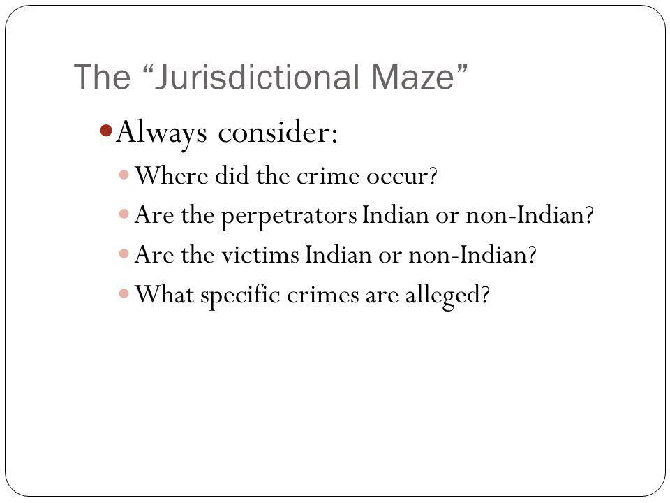 The Jurisdictional Maze