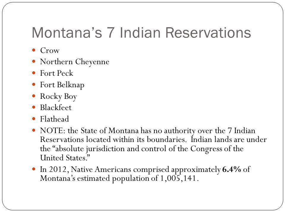 Montana's 7 Indian Reservations
