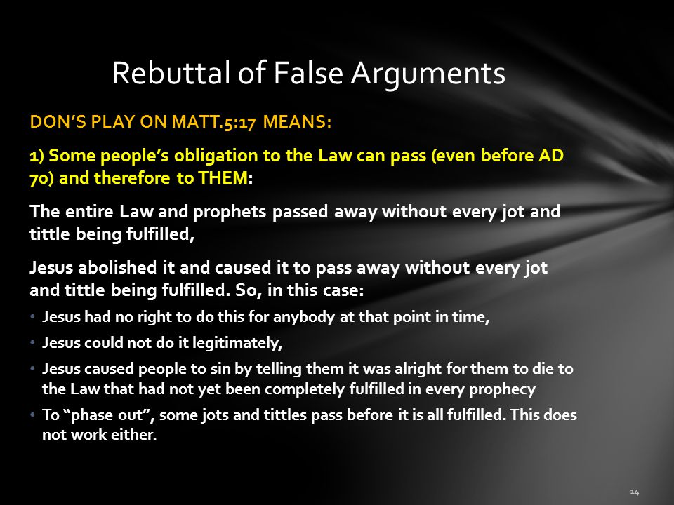 Rebuttal of False Arguments