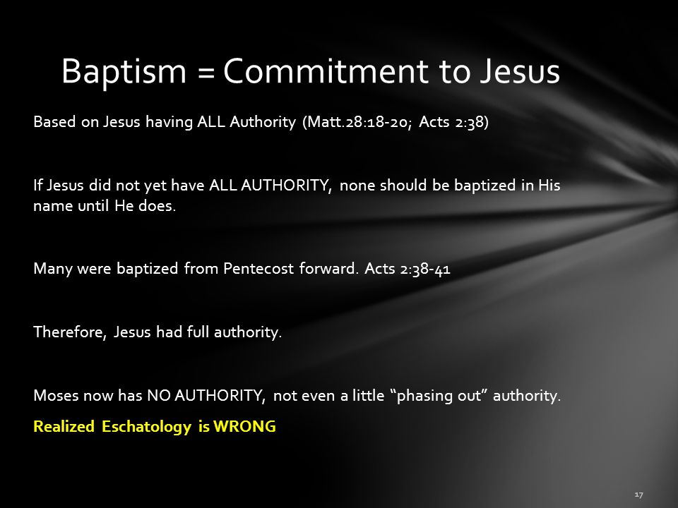 Baptism = Commitment to Jesus