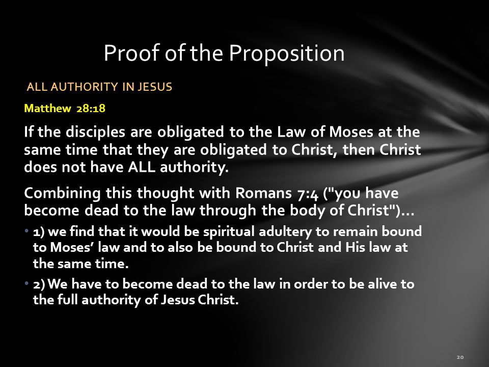 Proof of the Proposition