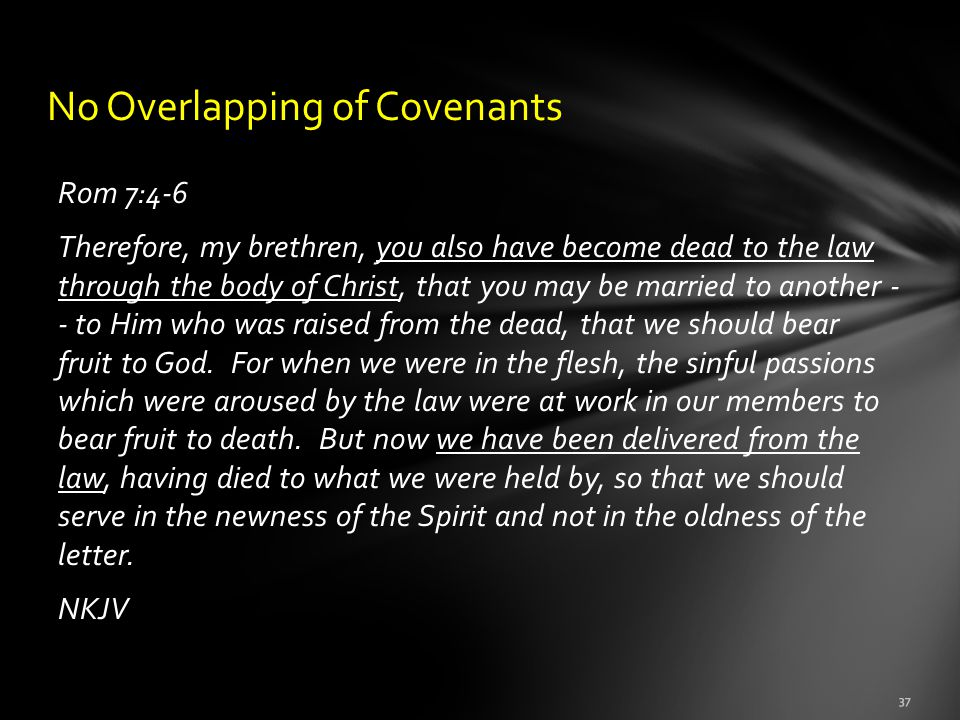 No Overlapping of Covenants