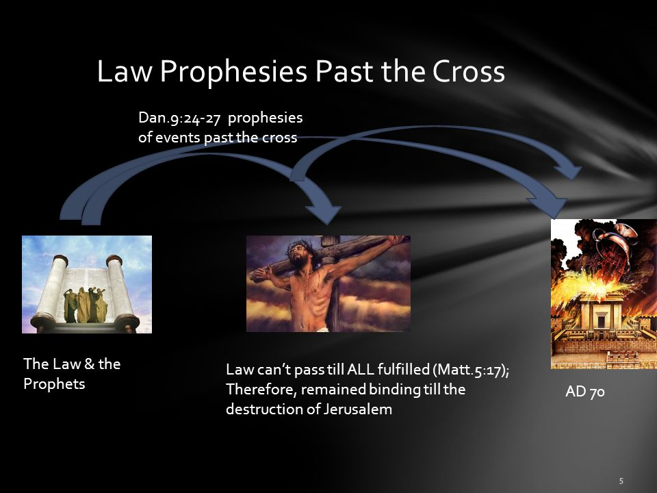 Law Prophesies Past the Cross