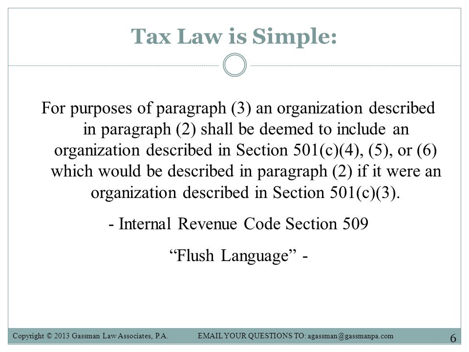 Tax Law is Simple:
