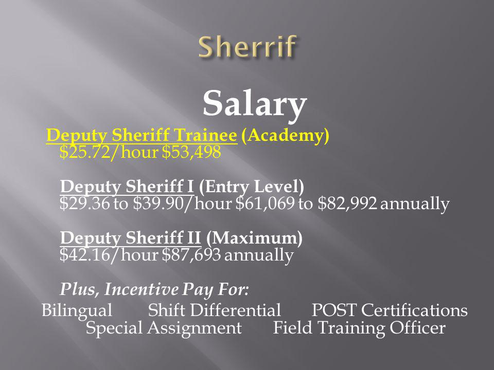 Sherrif Salary.