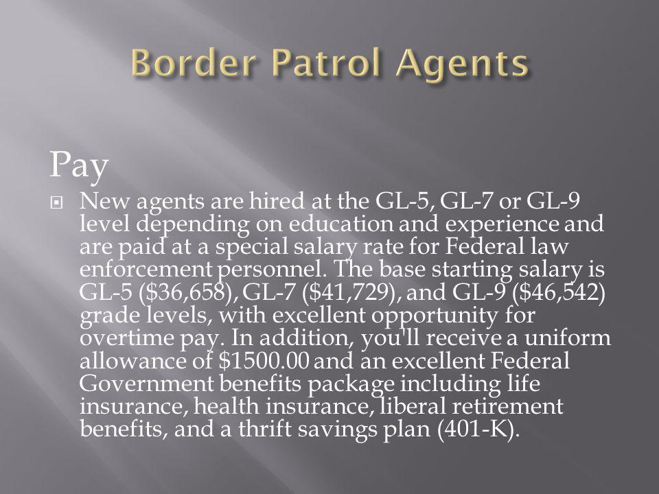 Border Patrol Agents Pay