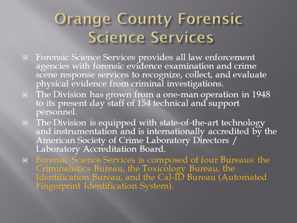 Orange County Forensic Science Services