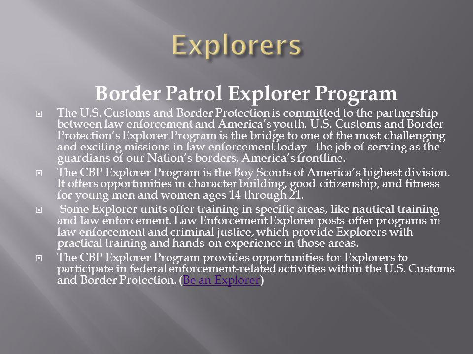 Border Patrol Explorer Program