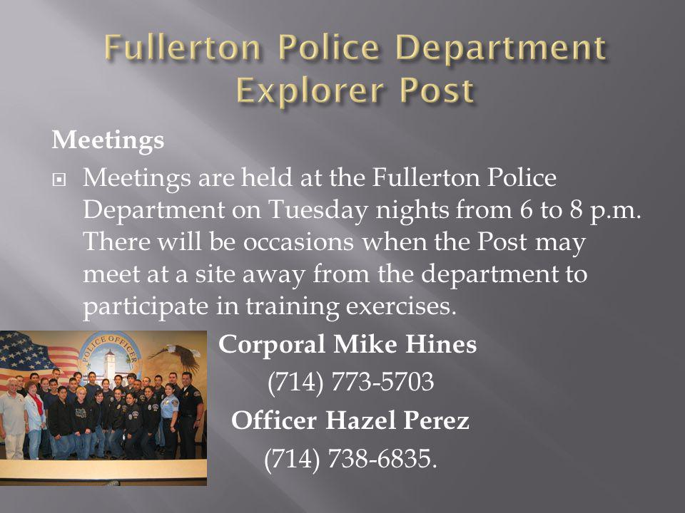Fullerton Police Department Explorer Post