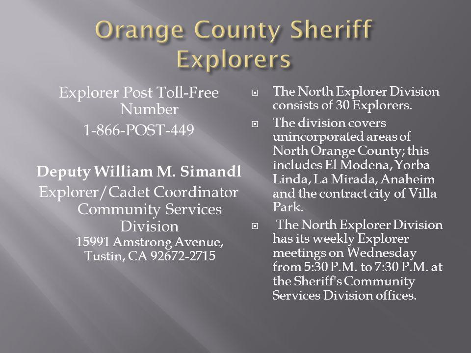 Orange County Sheriff Explorers