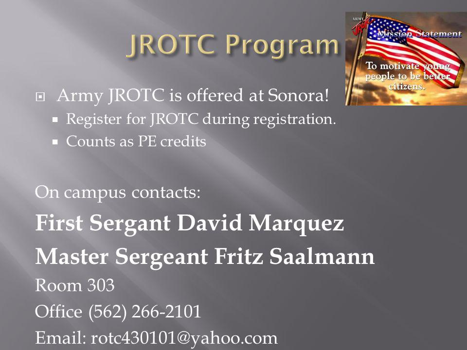JROTC Program First Sergant David Marquez