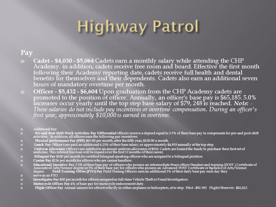 Highway Patrol Pay.