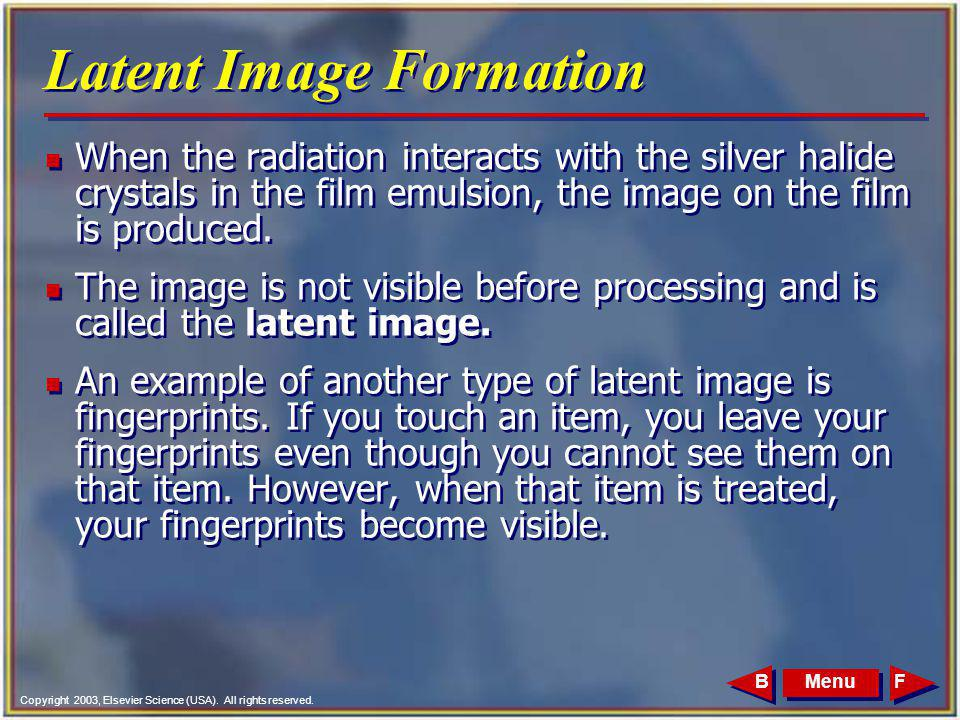 Latent Image Formation
