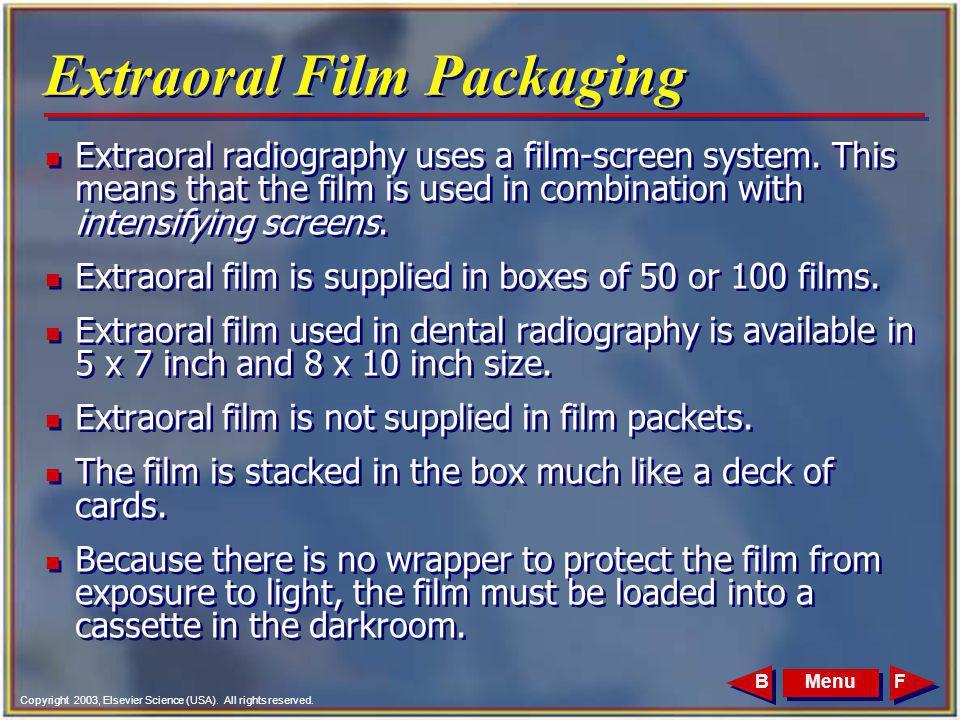 Extraoral Film Packaging