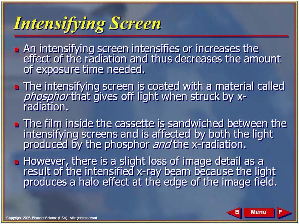 Intensifying Screen