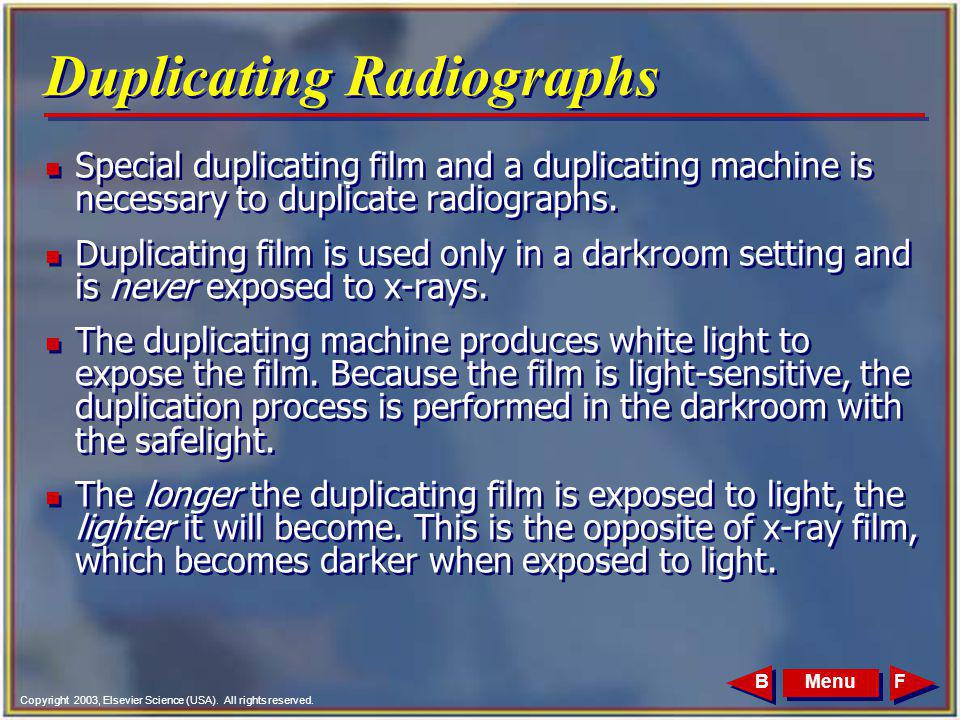 Duplicating Radiographs