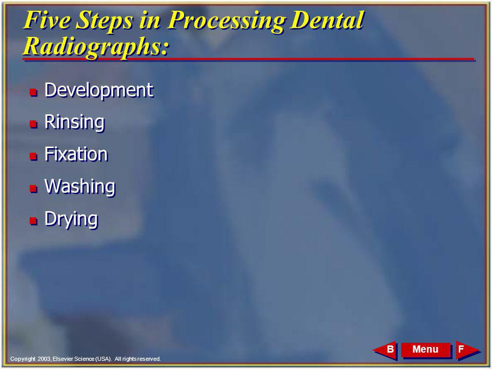 Five Steps in Processing Dental Radiographs: