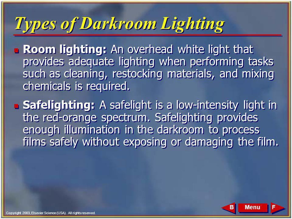 Types of Darkroom Lighting