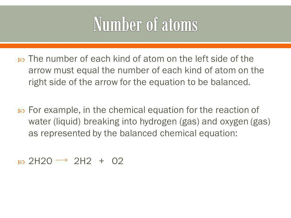Number of atoms