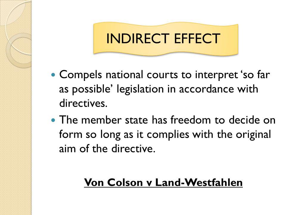 Von Colson v Land-Westfahlen
