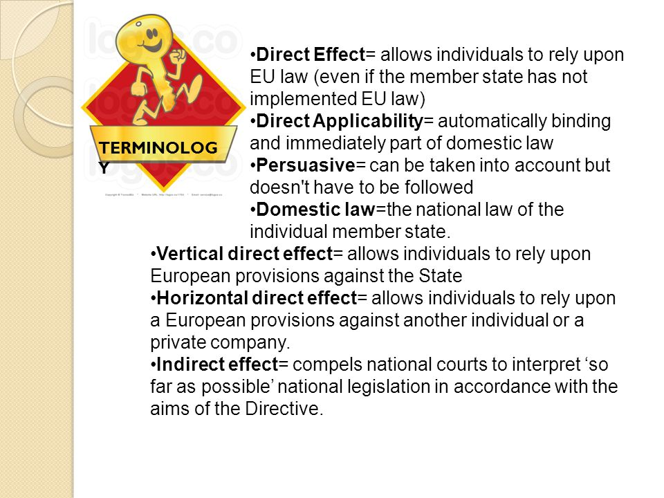Persuasive= can be taken into account but doesn t have to be followed