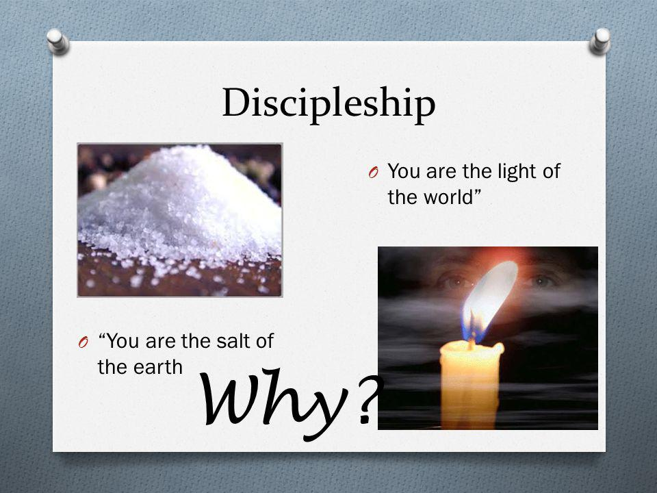 Why Discipleship You are the light of the world