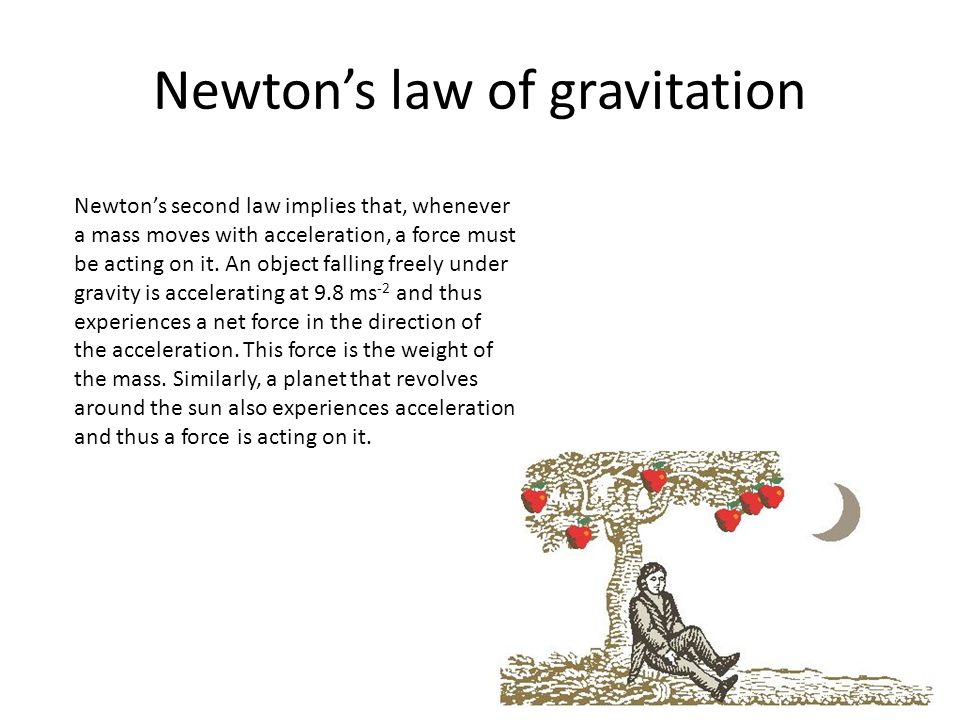 newton law of gravitation A summary of applications of newton's law in 's newton and gravitation learn exactly what happened in this chapter, scene, or section of newton and gravitation.