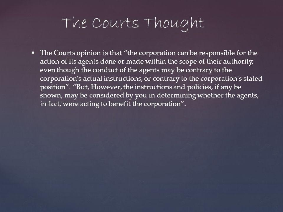 The Courts Thought