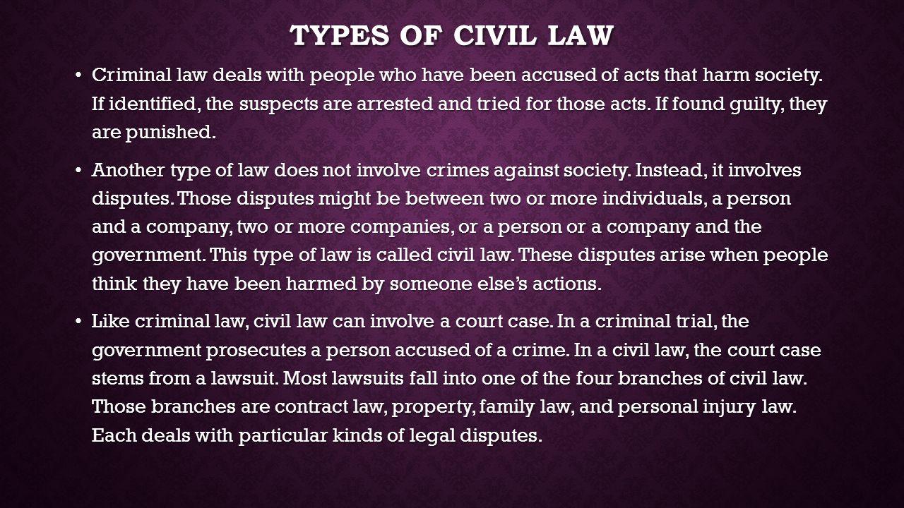 Types of civil law