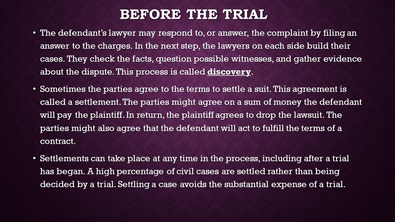 Before the trial